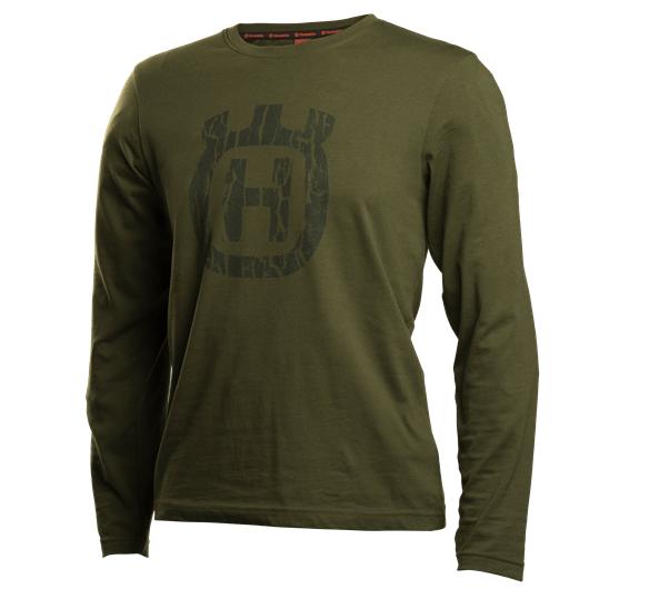 Husqvarna t-paita pitkähihainen vihreä camo